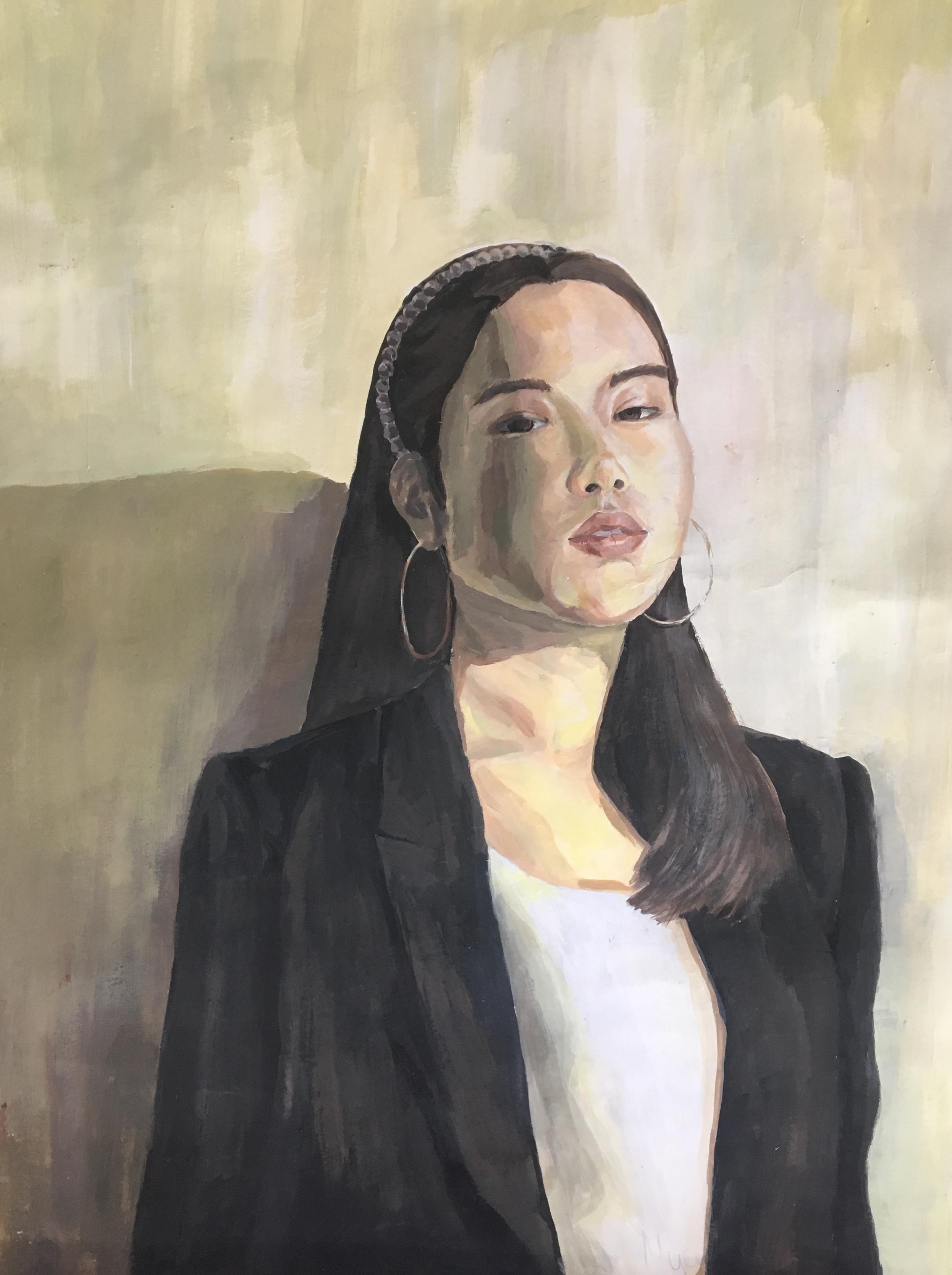 Абдимомунова Муслима. Автопортрет.