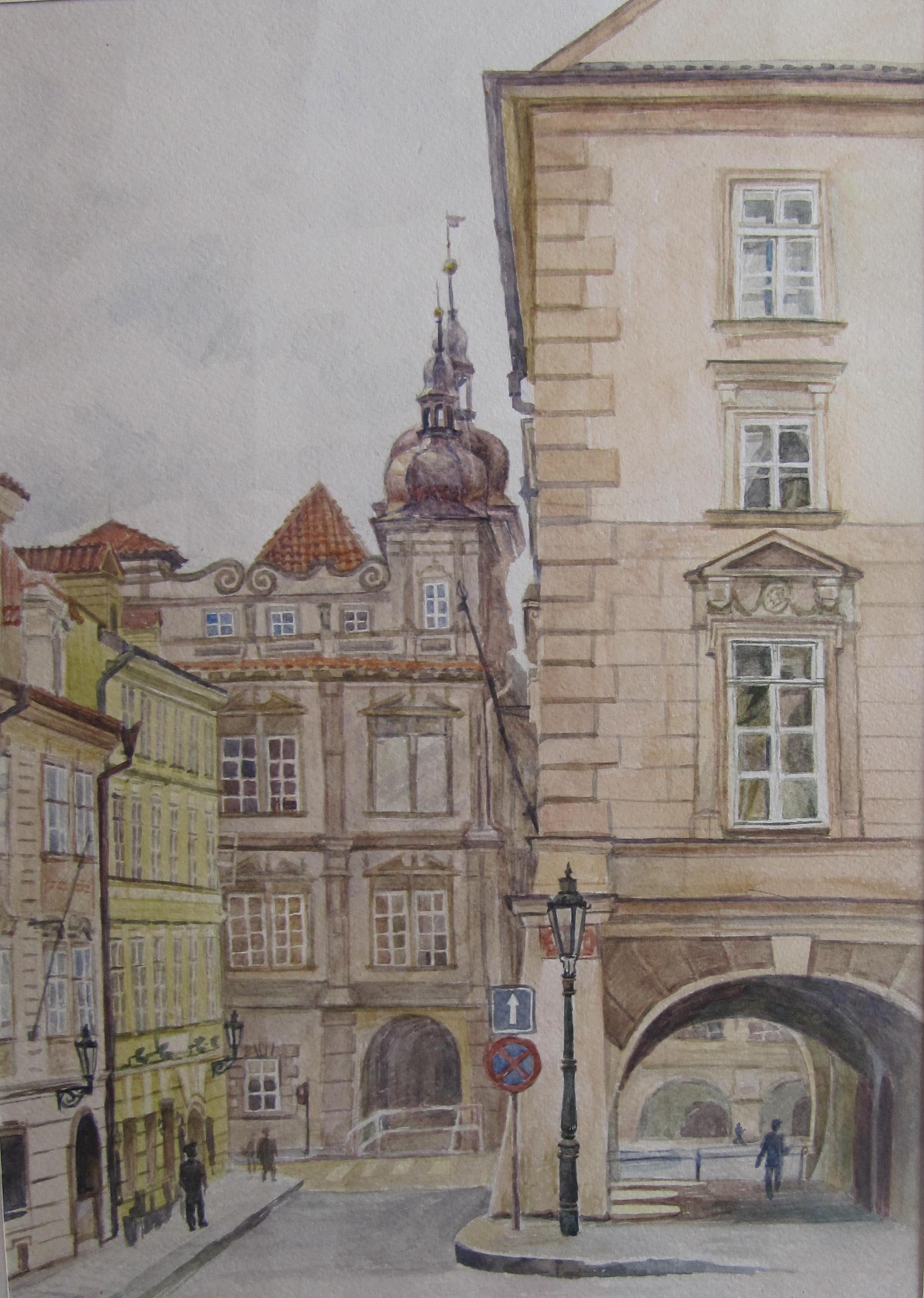 Боброва Наталья - Прага. Вид на Малостранскую площадь