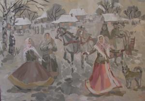 11 Худюкова Алина - Вечером в деревне